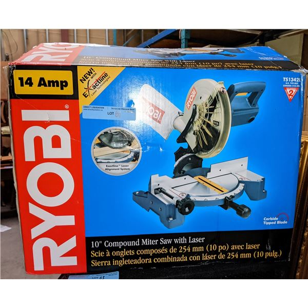 Ryobi 10-in compound miter saw with laser (brand new)