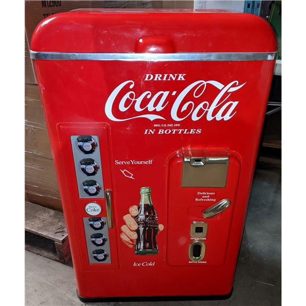 """Paul Flum Coke cooler (Never used) - only for store fronts (1994-1998) - 35"""" H x 13"""" D x 21"""" W"""