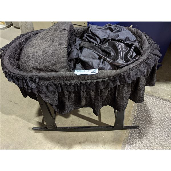 """Black crib from chilling adventures of - 32"""" H x 34"""" L x 20"""" W"""