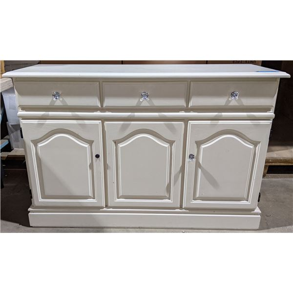 """White cabinet from the chilling adventures - 49"""" L x 17"""" D x 32"""" H"""