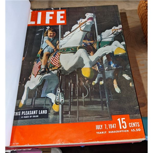 Set of 3 life magazines (various editions) binded set of 3 life magazines each one has anyone from 5