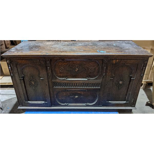 """Antique sideboard from the chilling adventures  (Approx. 5ft x 23"""" x 32"""" H)"""