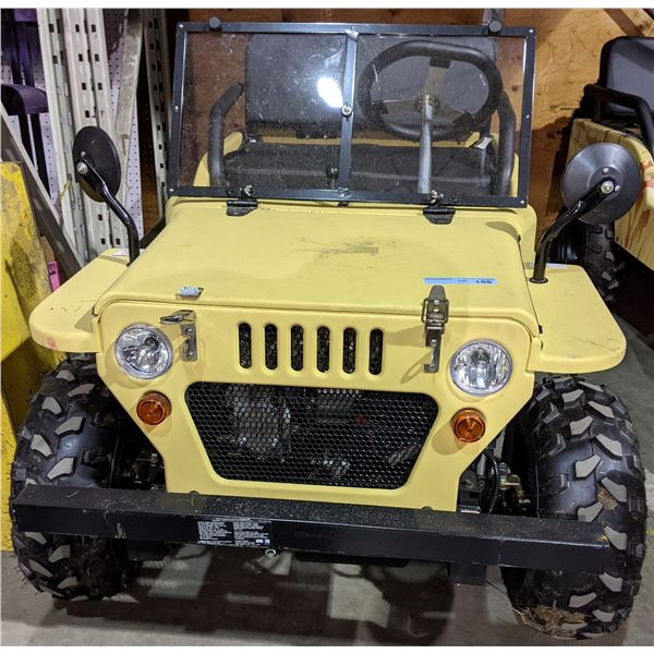 "MINI JEEP Gas Powered Jeep Like New - 82"" Long x 40"" W"