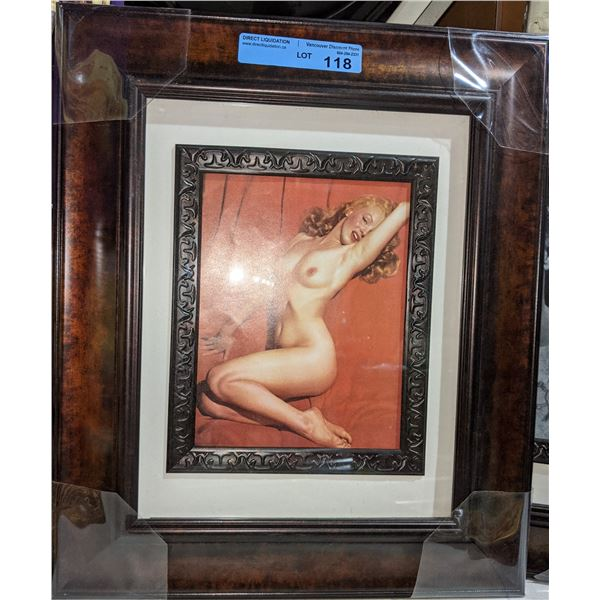 """Framed Marilyn Monroe and framed Steve McQueen from the movie Papuan - 16"""" x 20"""""""