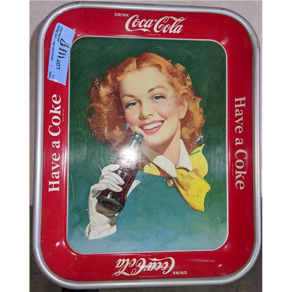 """Collectible CocaCola metal tray - 11"""" x 13"""""""