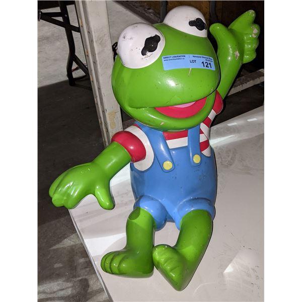 "Kermit the frog from Kiddie ride - 18"" H"