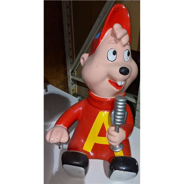 """Alvin and the chipmunks from kiddie ride - 24"""" H"""