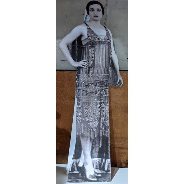 Large cut out of lady