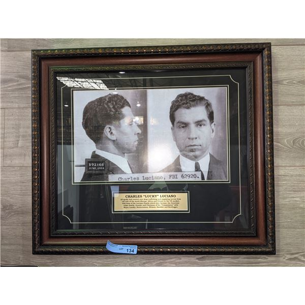 """Charles """"lucky"""" LUCIANO framed picture - 30"""" x 25"""""""