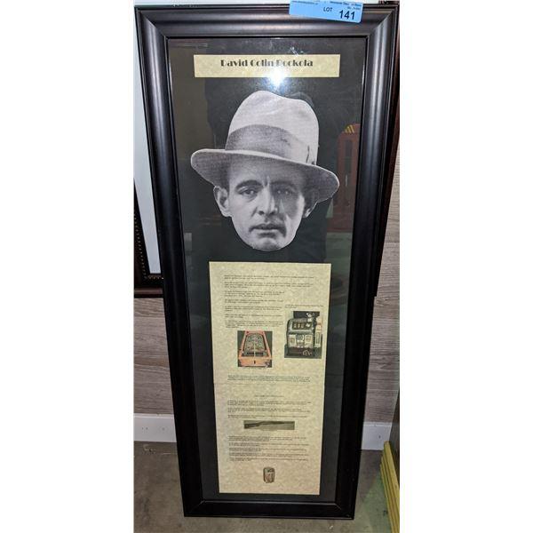 """David Colen Rockola framed memorabilia - 39""""x15"""""""