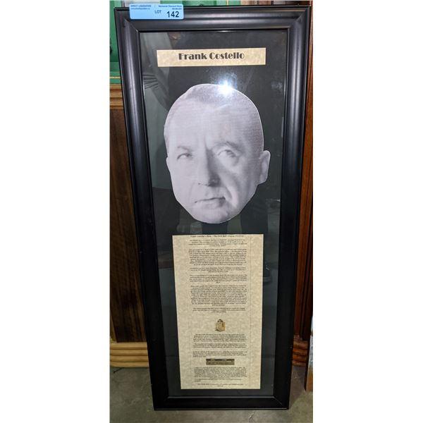 "Frank Costello Framed memorabilia - 39""x15"""
