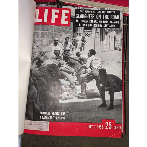 3 sets of Life magazines dating back to 1942 eat set includes at least 10 full magazines