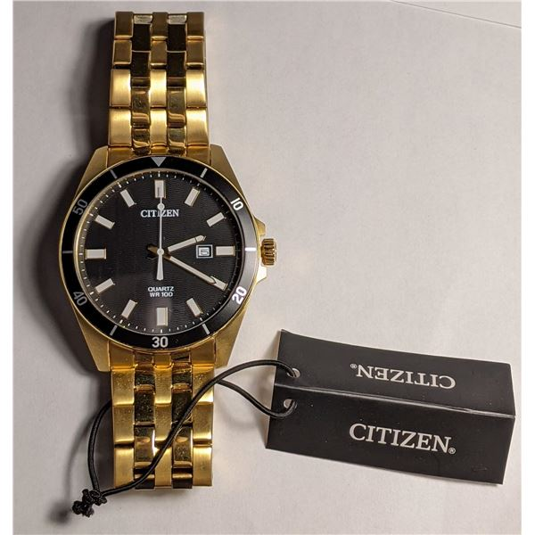 Citizen Gold Color Watch Stainless Steel BI5052-59E (value $225)