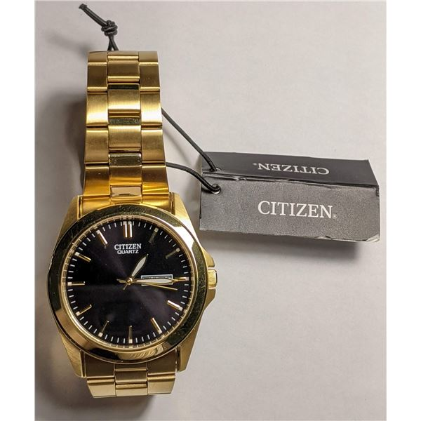 Citizen Gold Color Watch Stainless Steel BF0582-51F (value $195)