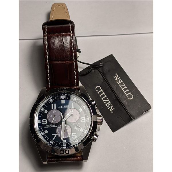 Citizen Watch with Brown Leather Band Brycen BL5551-06L (value $550)