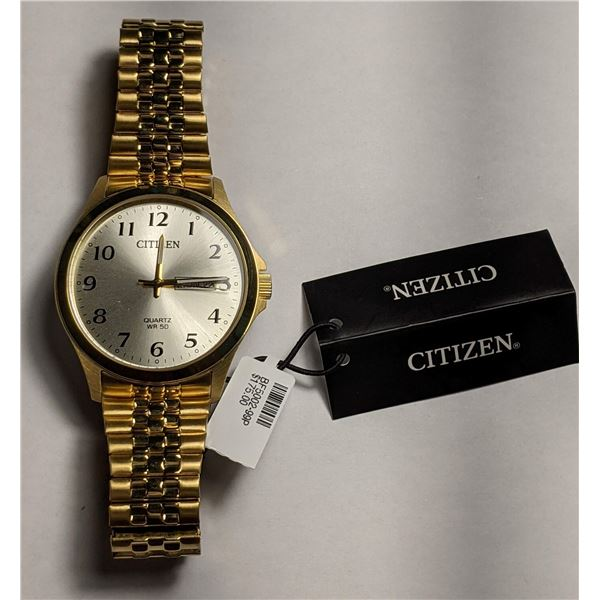 Citizen Gold Color Watch with Expandable Band BF5002-99P (value $175)