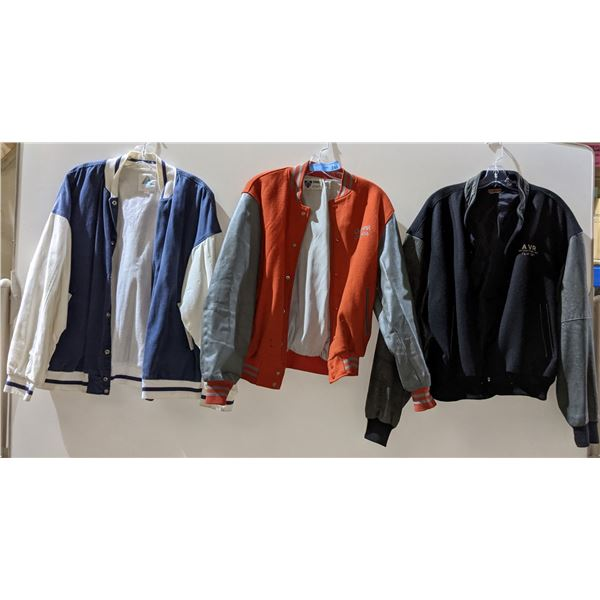 Lettermen crew jackets from different shows