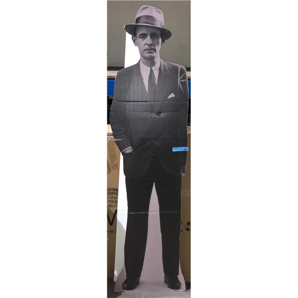 Human size gangster stand up cutout