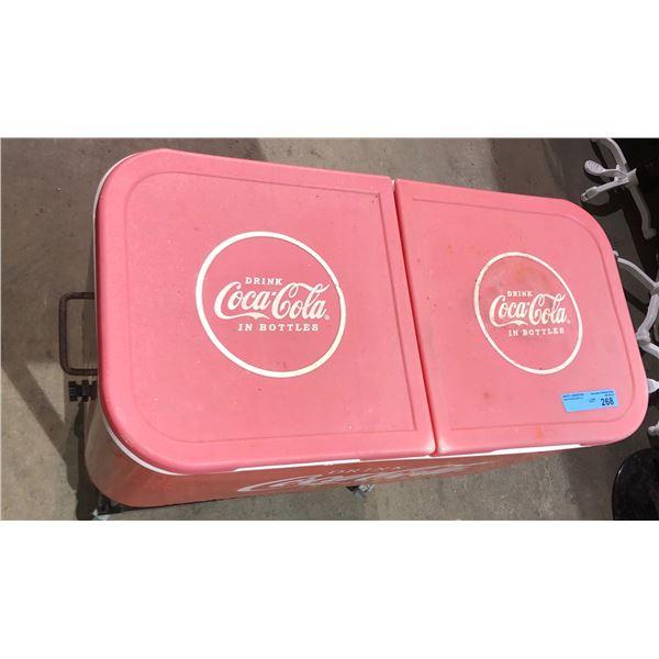 "Four ice chest Coca-Cola - 33"" H x 15"" W x 30"""