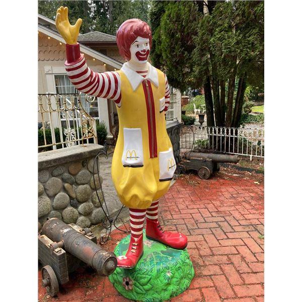 "McDonaldland Ronald McDonald Full Size Early 70's - 78"" H"