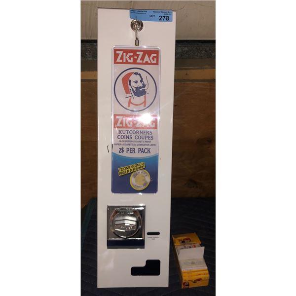 Zig-Zag rolling dispenser machine - 27  H x 7  W x 5  D