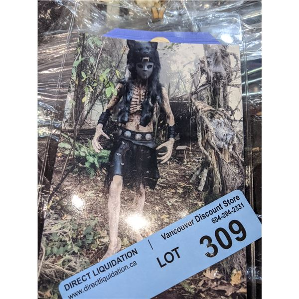Skinwalker costume with leather skirt from Project Blue Book