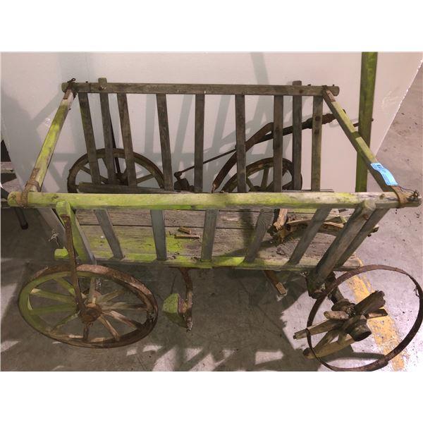 "Antique hay cart - 48"" L x 30"" W x 30"" H"