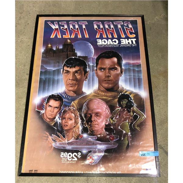 """Star Trek The Cage framed poster - 41"""" x 28"""""""