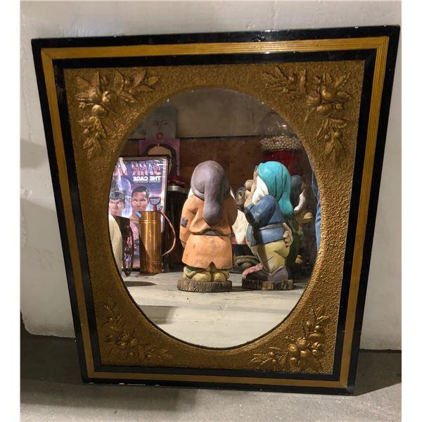 "Antique mirror - 30"" H x 25"" L"