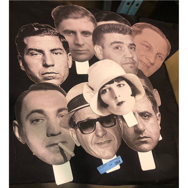 Gangsters' head cutouts approx 10 pieces