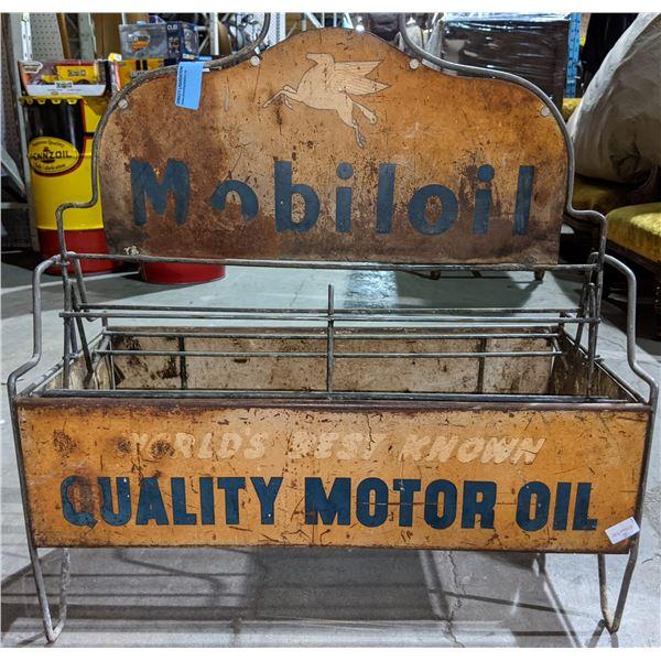 "Vintage MobilOil Metal Display 25.5"" x 28"""