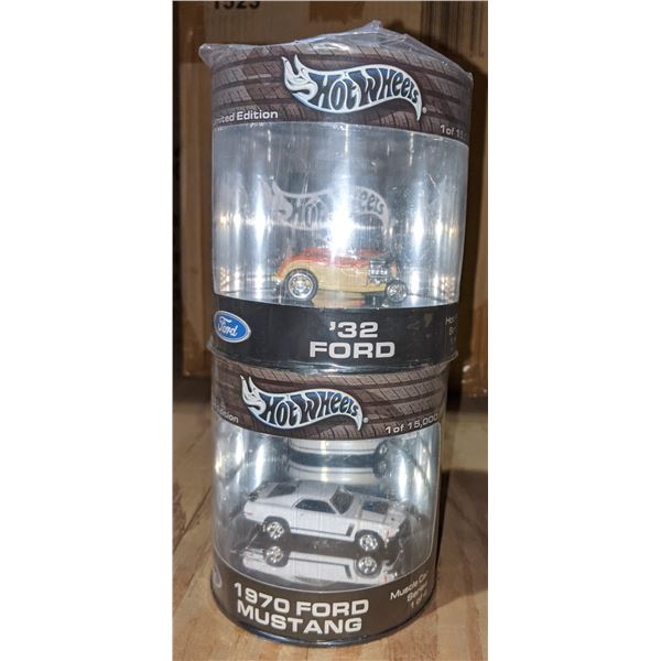 Limited edition four hot wheels collectible cars
