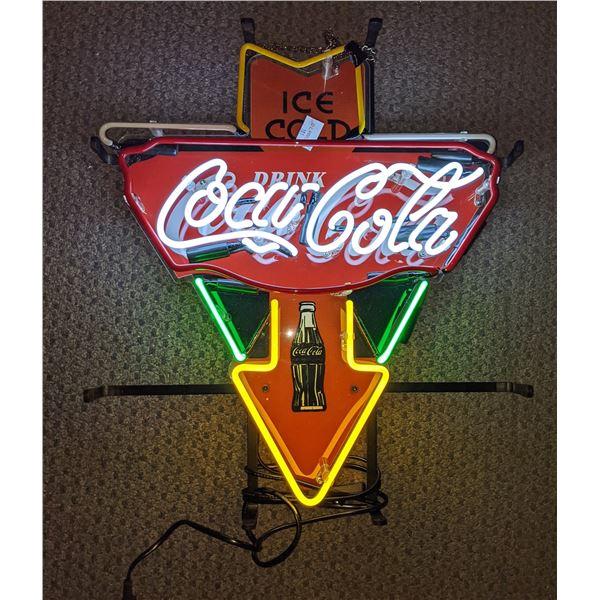 "Collectible Coca-Cola neon sign triangular - 20"" H x 16"" W"