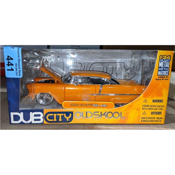Dub City old skool 1955 Chevy Bel Air toy car