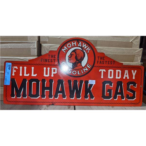 "Mohawk gasoline metal sign - 26"" W x 13""  H"