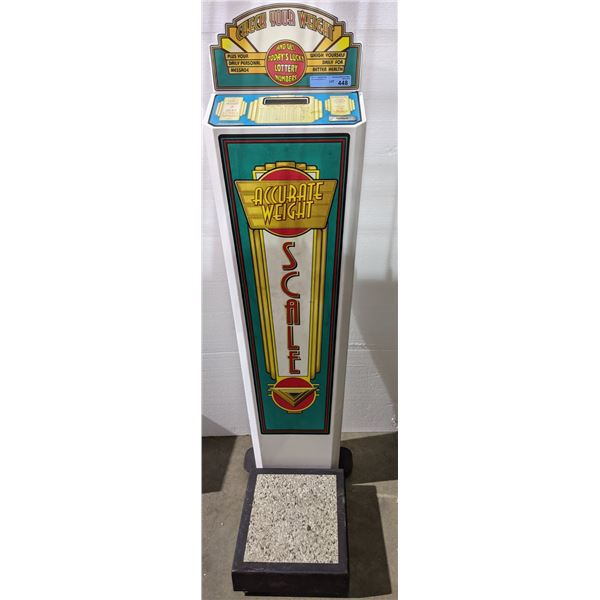 """Vintage coin operated and lottery numbers machine - 56"""" H"""