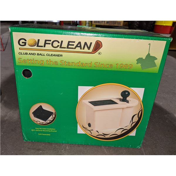 Golfclean club and ball cleaner