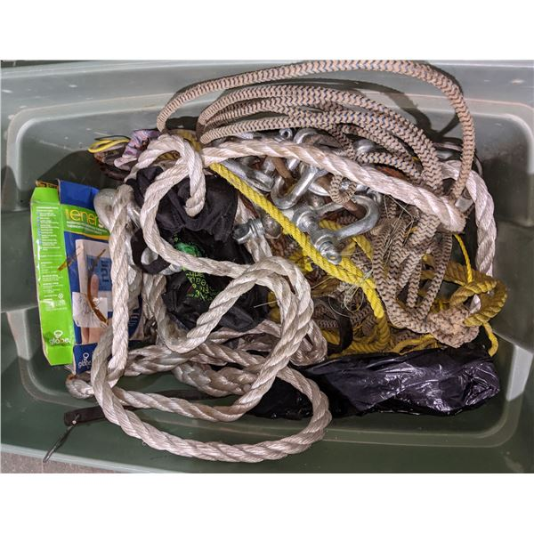 Box of ropes and miscellaneous