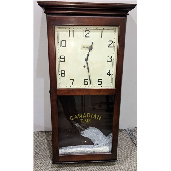 """""""Canadian Time"""" 8 day Wall-Clock - 36"""" H x 18"""" W x 5 """"D"""