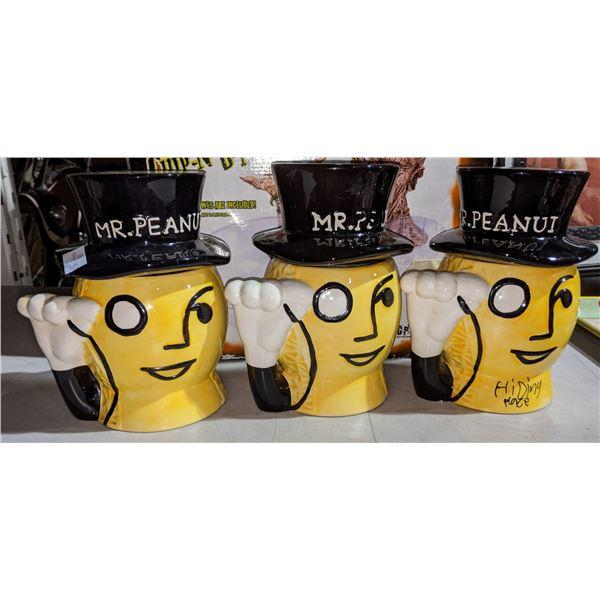 Three Planters Ceramic Peanut Jars