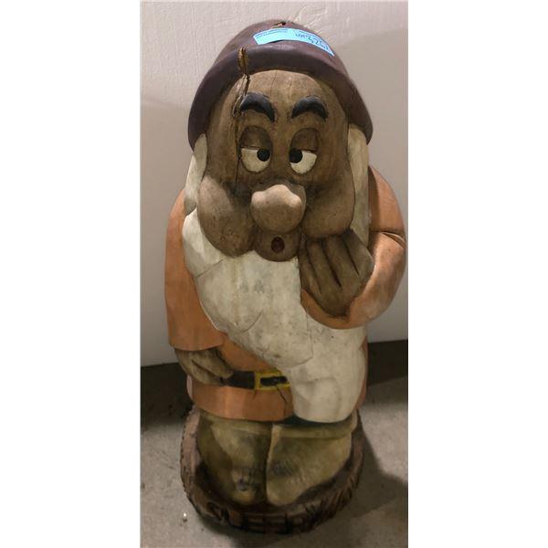 """Dwarf Wooden statue Disney - 30"""" H"""