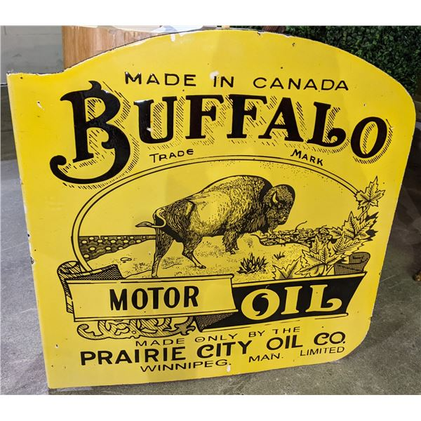 Double sided Buffalo porcelain flang sign approx 2ft x 2ft