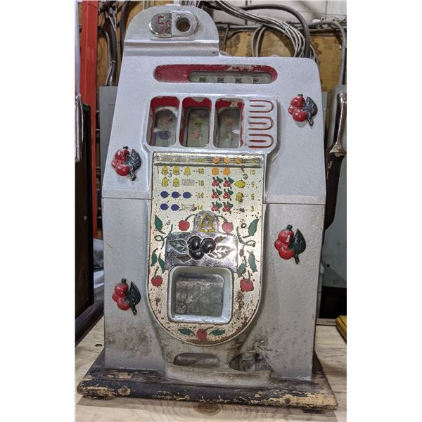 1940 pace slot machine - all original barn find working condition - 10 cents