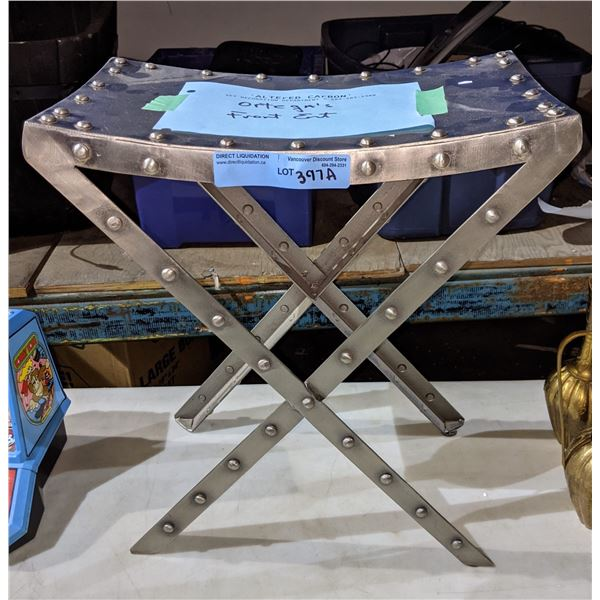 Steel stool from the sci-fi show