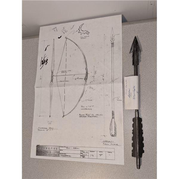 Stargate S.2 E.14 Arrow Jan10/99 and Bow & Arrow Drawing