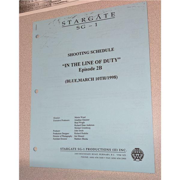 Stargate Shooting Schedule