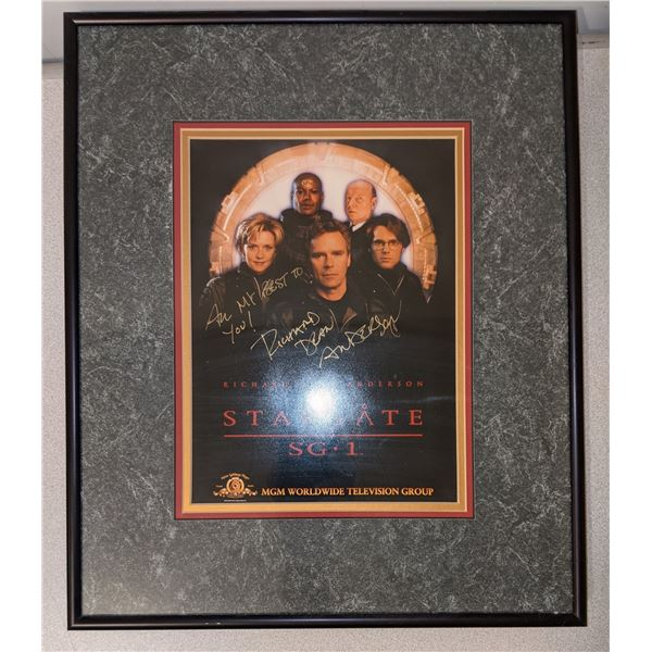 Stargate SG-1 Cast Autographed framed poster with Richard Dean Anderson autograph