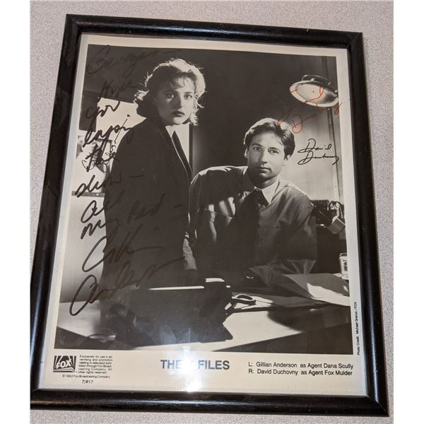 X-Files Autographed 'The X file' framed Picture
