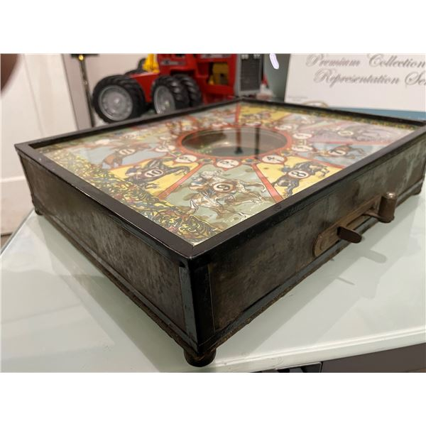 """1934 Stone Brothers """"Kentucky Derby"""" Countertop Trade Simulator with Dice"""