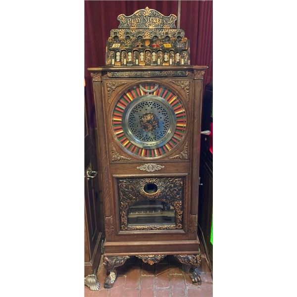 1905-1910 Caille Musical Upright Slot Machine Rare Handcrafted